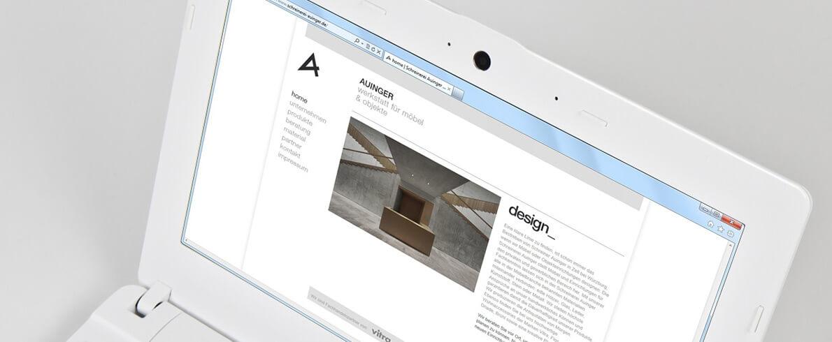 Schreinerei Auinger schreinerei auinger internetseite mit cms icue medien